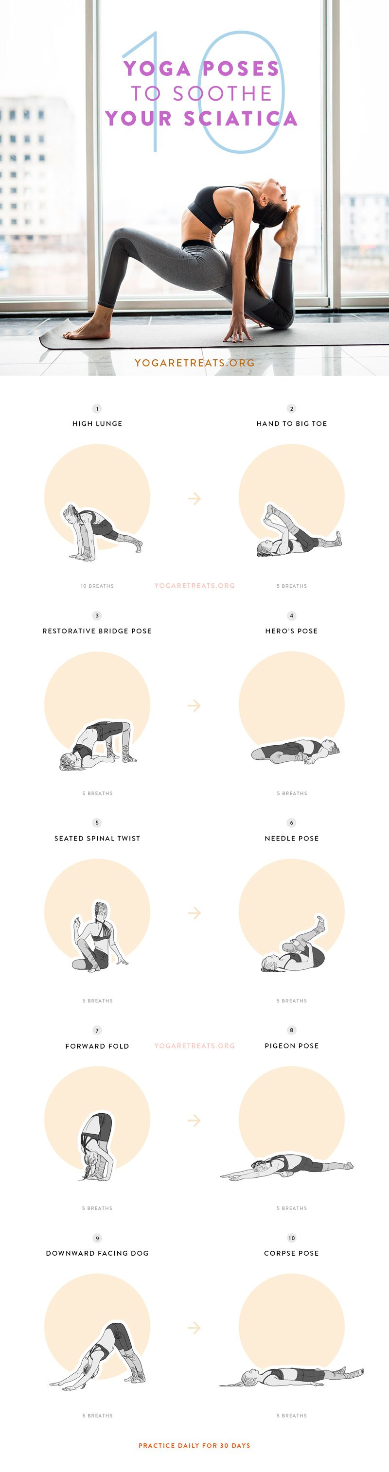 10 Yoga Poses to Soothe Your Sciatica