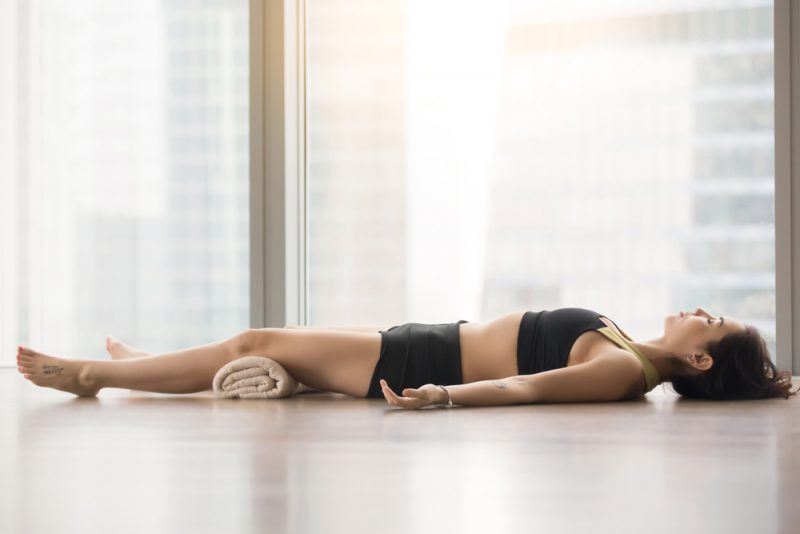 A Restorative Variation of Savasana
