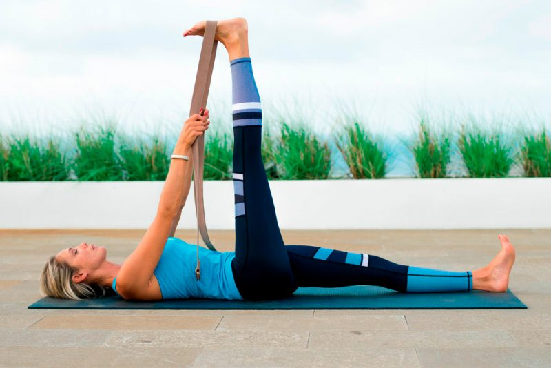 Supine Big Toe Stretch With a Strap