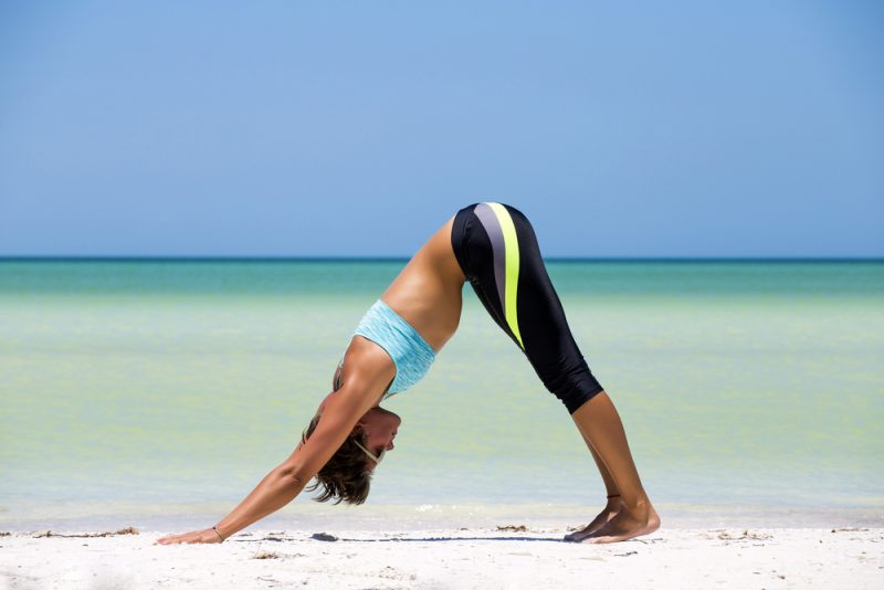 Downward Dog for a Pinched Nerve in the Spine
