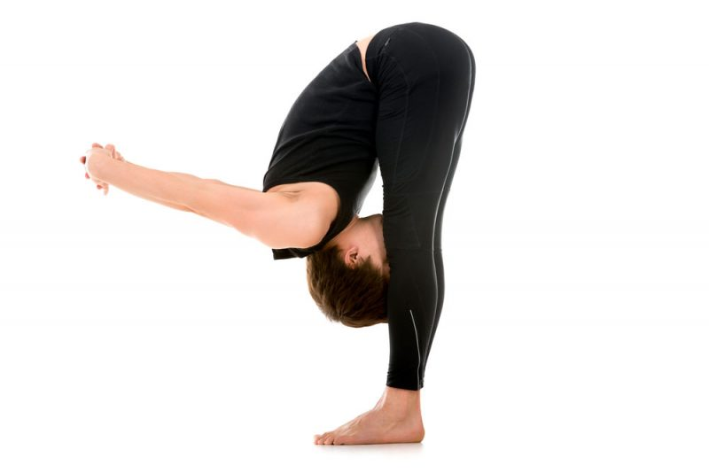 Uttanasana — Forward Fold with Chest Expansion Pose
