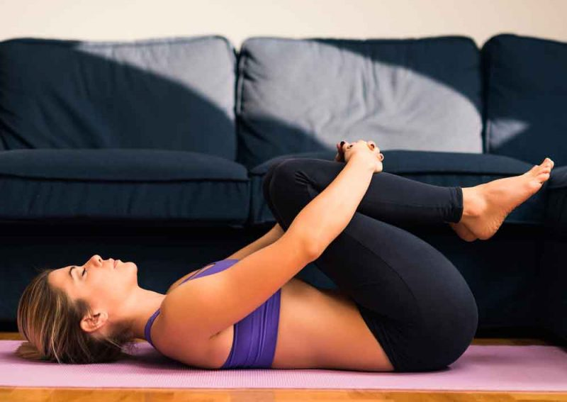 Pavanamuktasana — Knee to Chest Pose