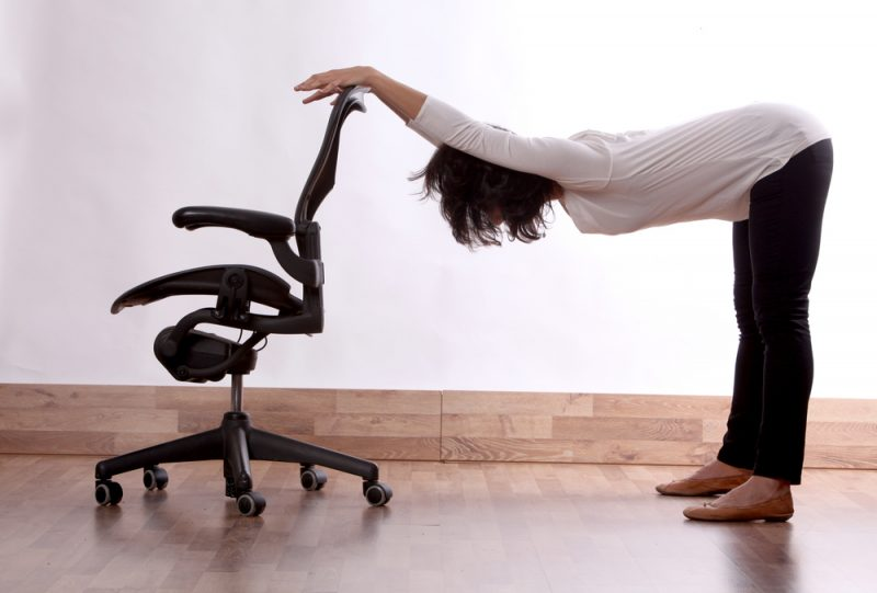 Purvottanasana — Plank Pose with Chair