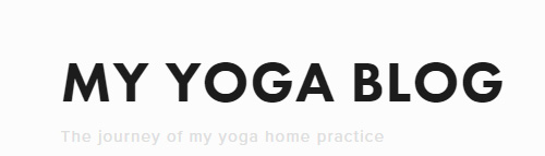 My Yoga Blog